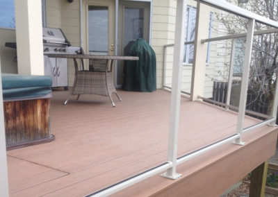 Brown-composite-deck-glass-railing