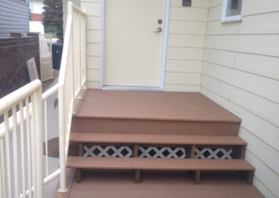 Composite deck stairs Lethbridge
