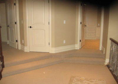 Carpet flooring install example