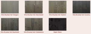 Grey hardwood sample flooring - Lethbridge